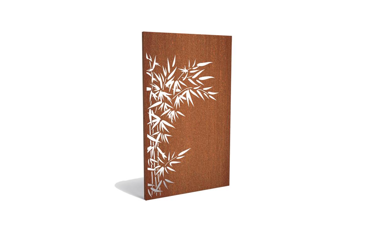 Tuinpaneel corten bamboe links • Gras en Groen Winkel