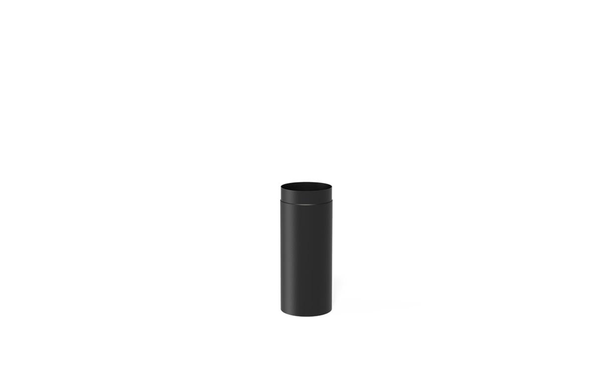Kachelpijp staal zwart Ø200 x 500 mm • Gras en Groen Winkel