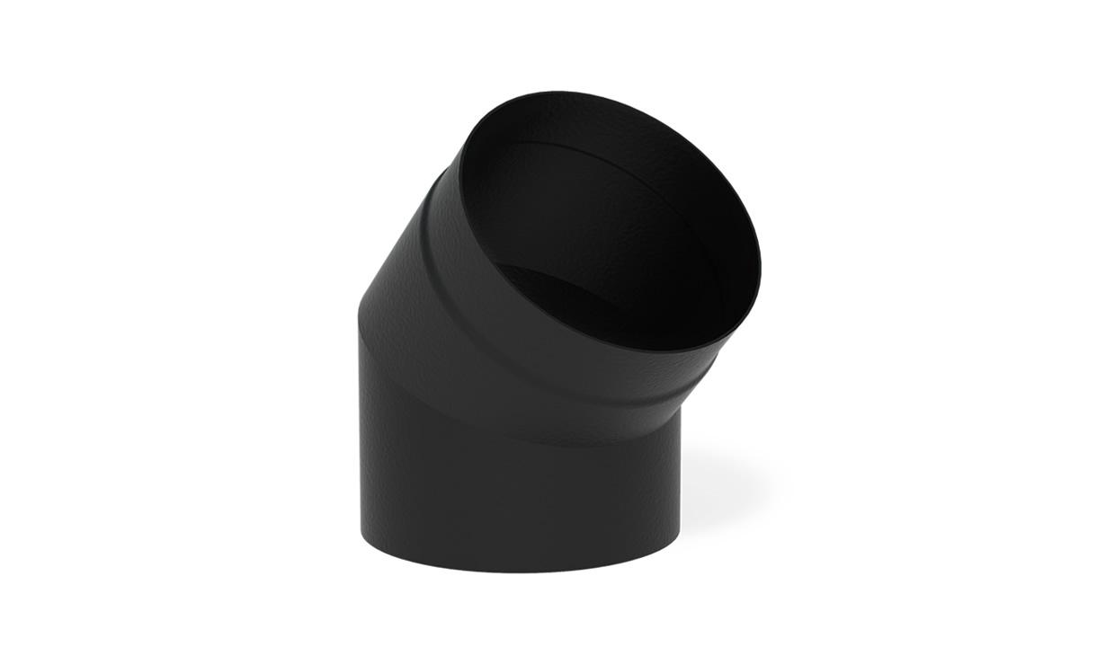 Kachelpijp zwart staal bocht 45° Ø200 mm • Gras en Groen Winkel