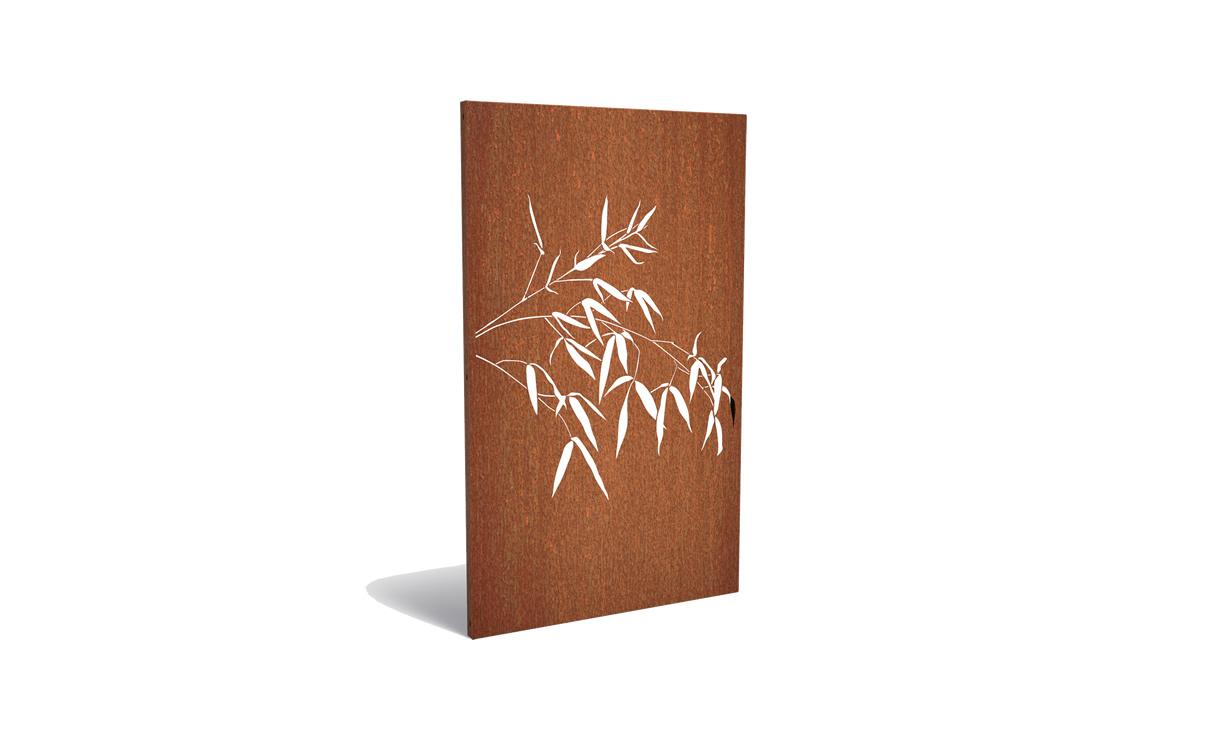 Tuinpaneel corten bamboe hangend • Gras en Groen Winkel