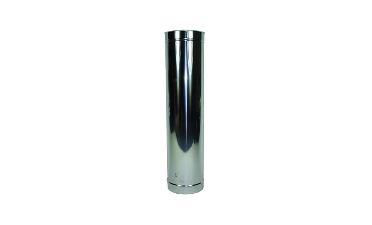 Verlengstuk kachelpijp RVS 1000 mm Ø 200 mm • Gras en Groen Winkel