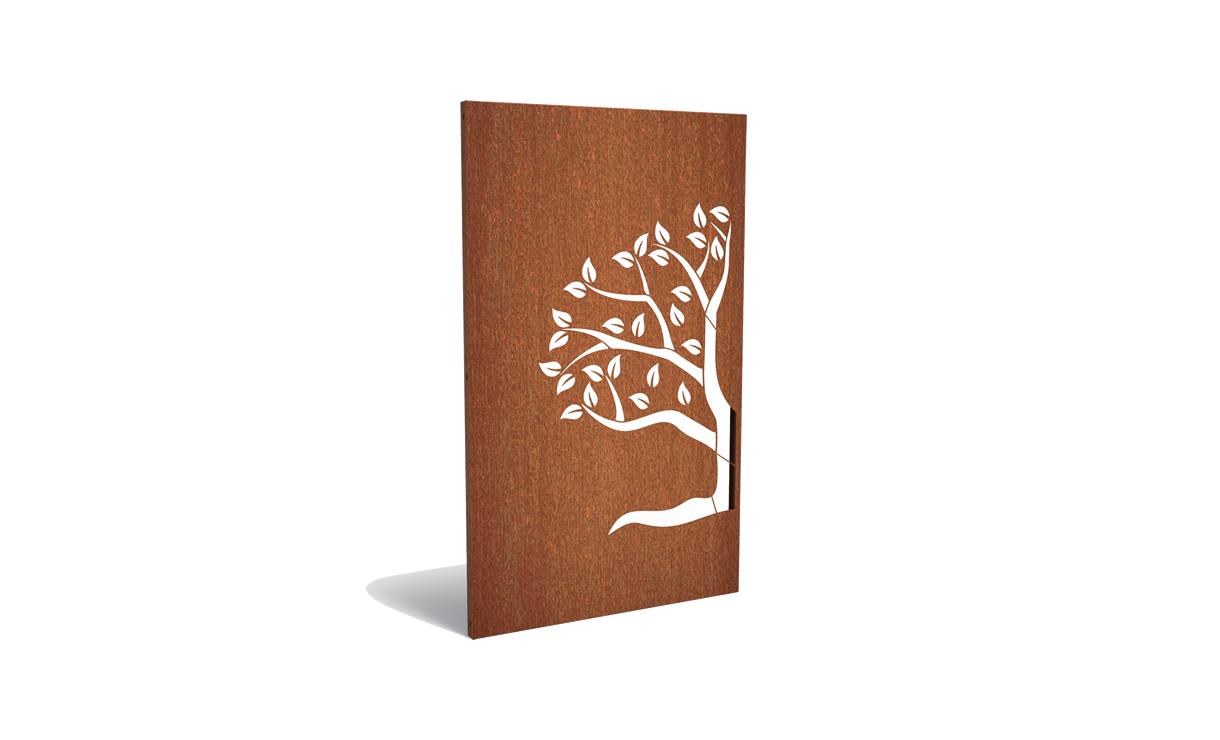 Tuinpaneel abstract halve boom linkerzijde • Gras en Groen Winkel