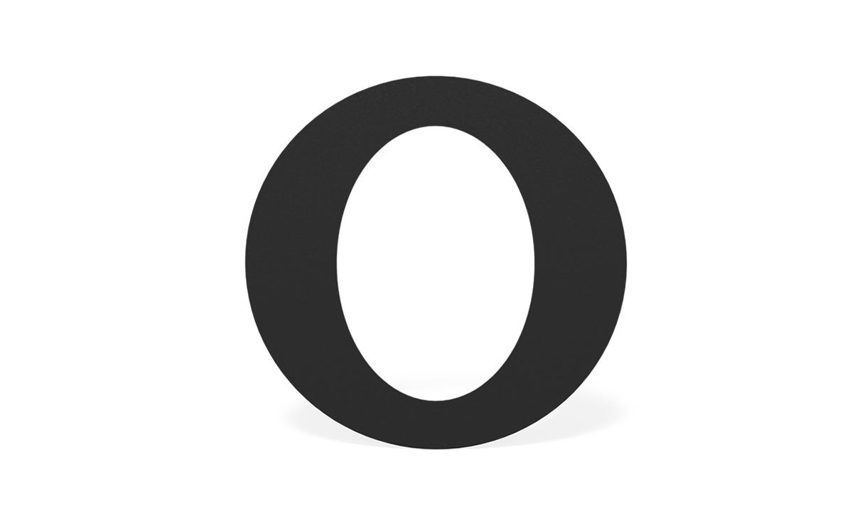 Roset zwart staal ovaal Ø 200 mm • Gras en Groen Winkel