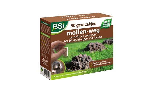 Mollen-weg 50 geurzakjes • Gras en Groen Winkel