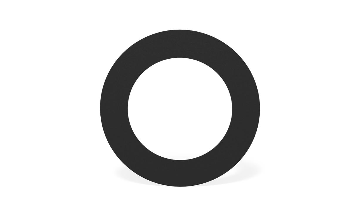 Roset zwart staal rond Ø 200 mm • Gras en Groen Winkel