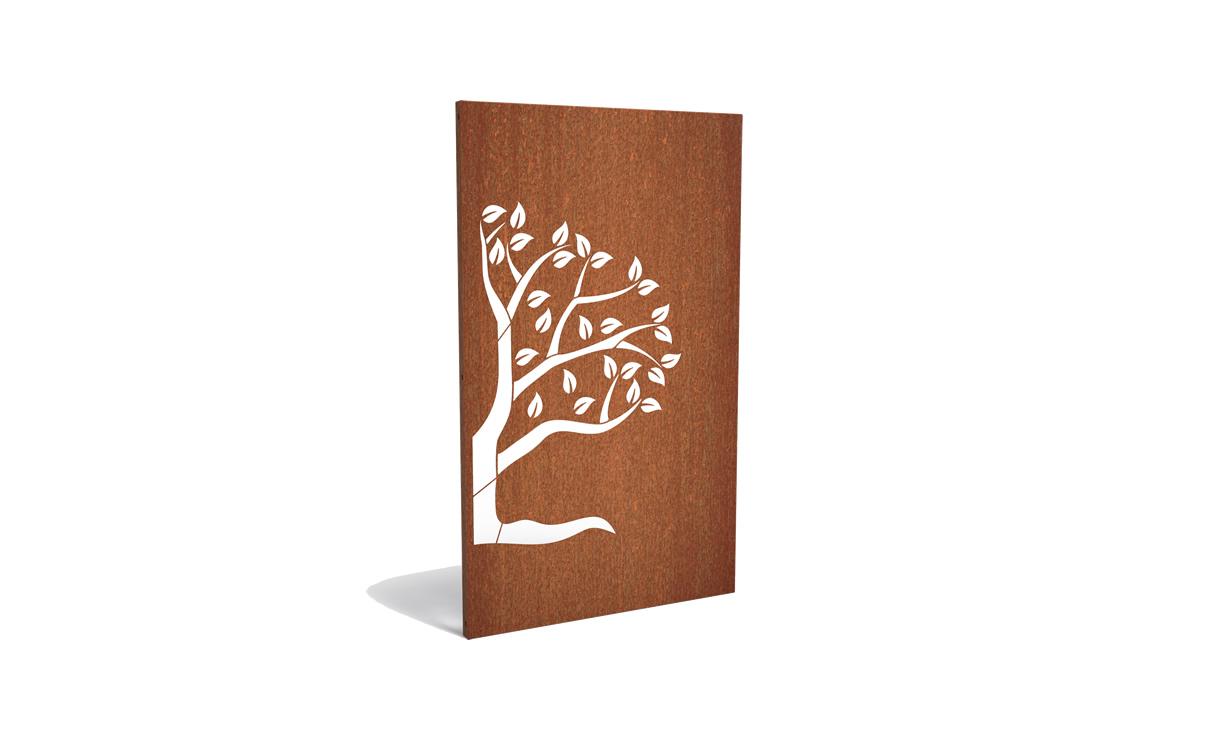 Tuinpaneel abstract halve boom rechterzijde • Gras en Groen Winkel