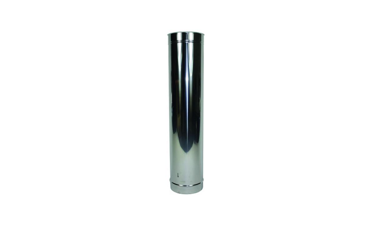 Verlengstuk kachelpijp RVS 1000 mm Ø 150 mm • Gras en Groen Winkel